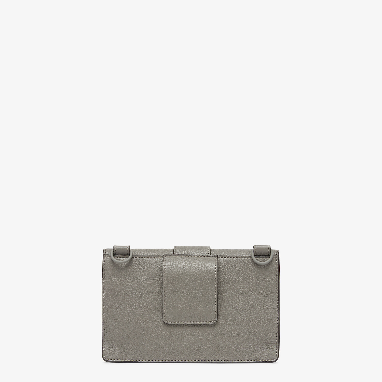 FENDI BAGUETTE POUCH - Gray leather bag - view 3 detail