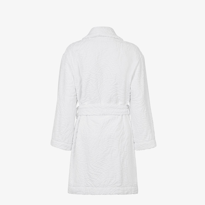 FENDI BATHROBE - White cotton bathrobe - view 2 detail