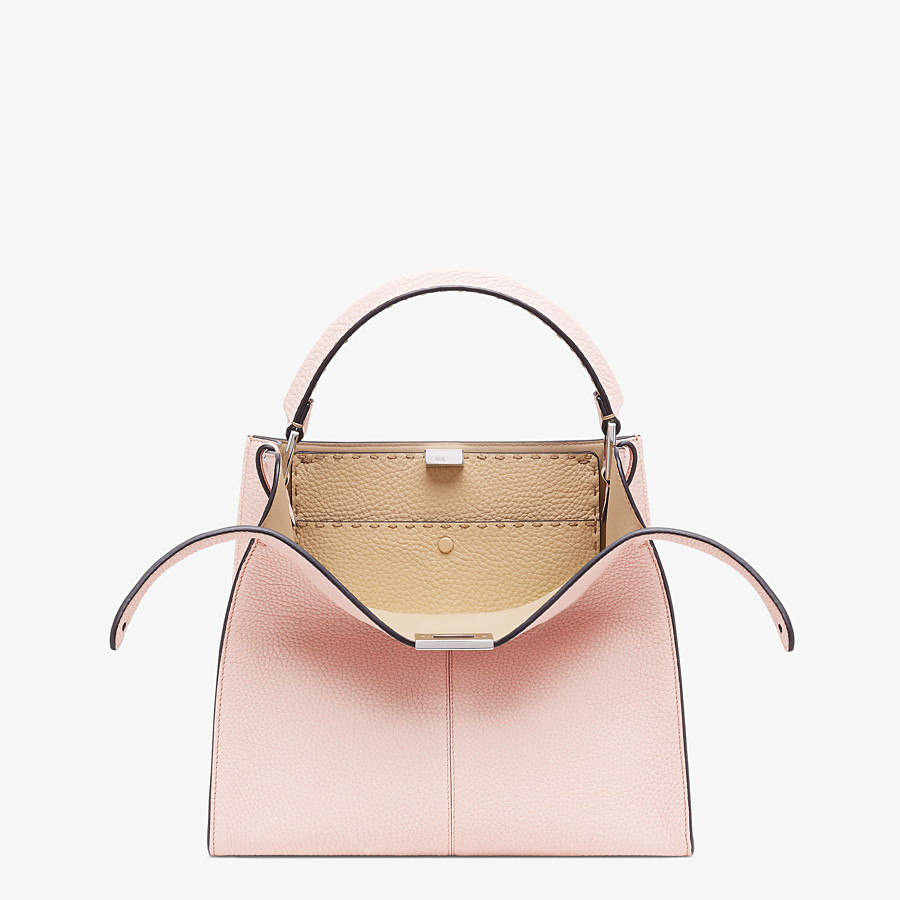 FENDI PEEKABOO X-LITE MEDIUM - Pink leather bag - view 1 detail