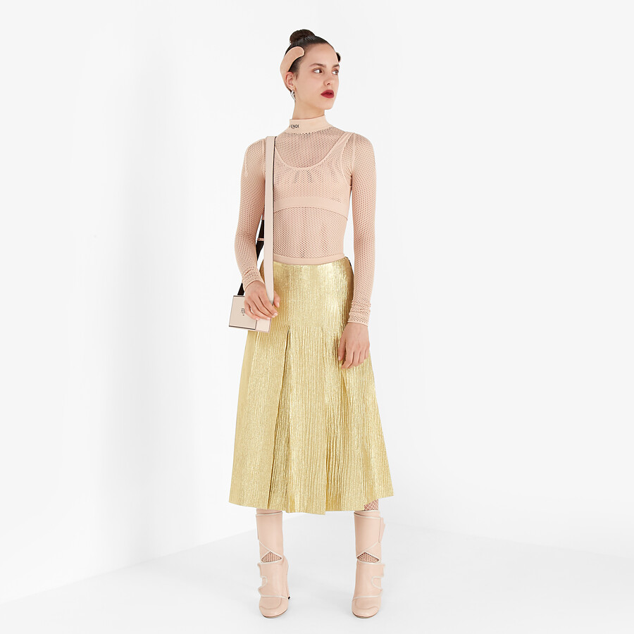 FENDI SKIRT - Gold Lurex skirt - view 4 detail