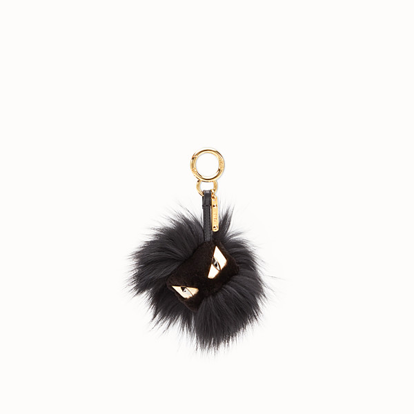 FENDI BAG BUGS CHARM - Black fur charm - view 1 small thumbnail