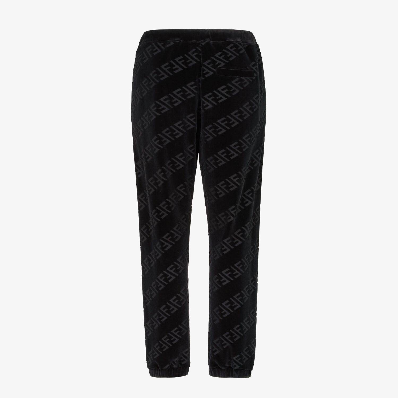 FENDI PANTS - Black velvet pants - view 2 detail