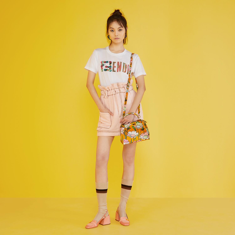 FENDI SKIRT - Pink terry skirt - view 4 detail