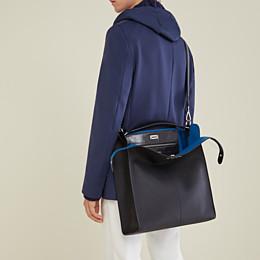 FENDI PEEKABOO X-LITE FIT - Black, calf leather bag - view 7 thumbnail