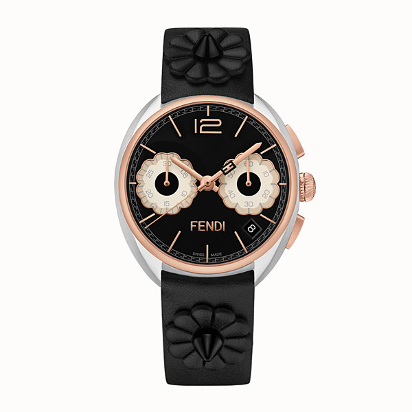 FENDI MOMENTO FENDI - 40 mm - Chronograph watch with flowers and strap - view 1 small thumbnail