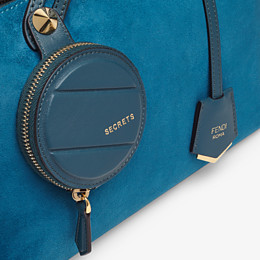 FENDI BY THE WAY MEDIUM - Blue suede Boston bag - view 5 thumbnail