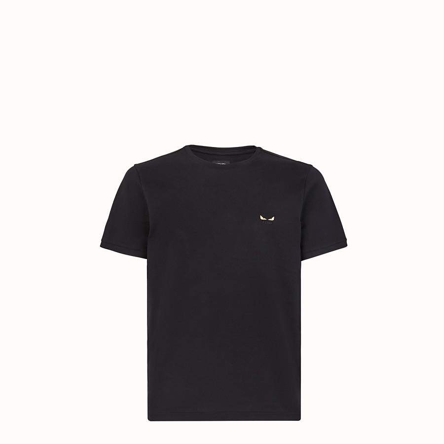 FENDI Tシャツ - ブラックジャージー Tシャツ - view 1 detail