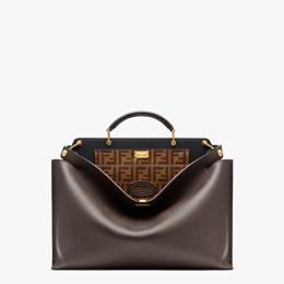 FENDI PEEKABOO ICONIC ESSENTIAL - Brown leather bag - view 1 thumbnail