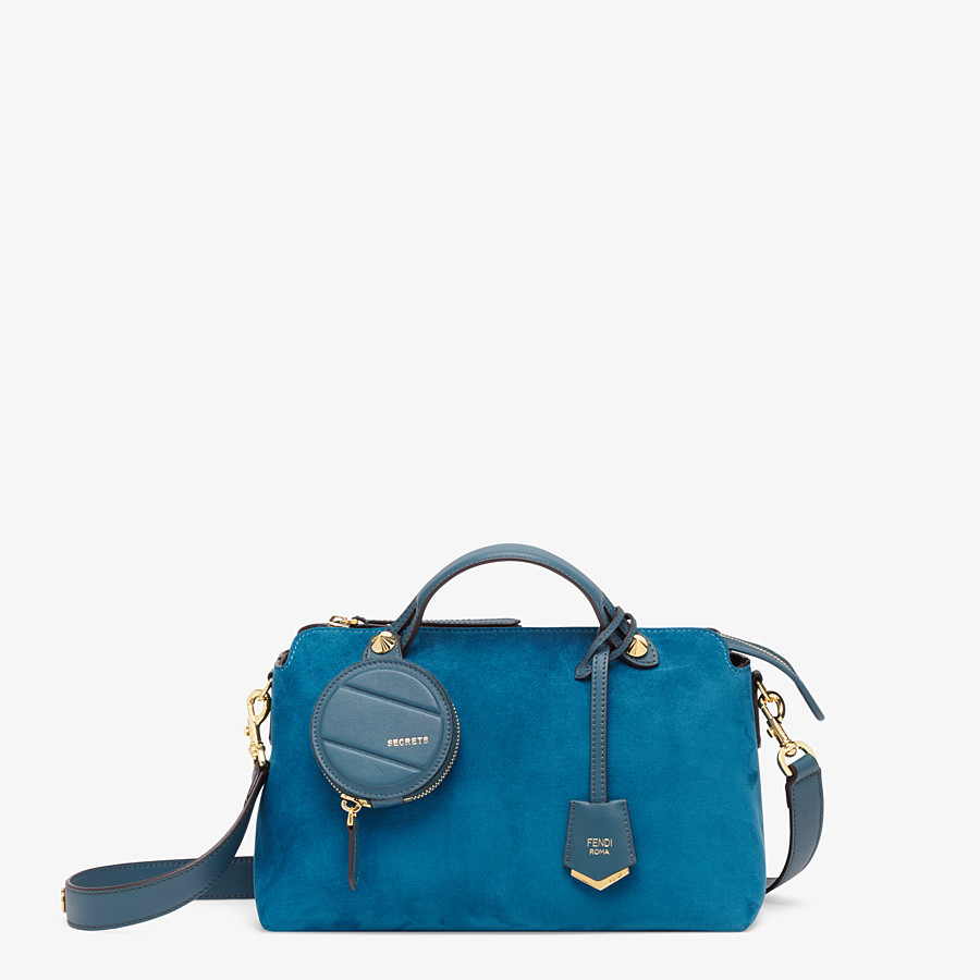 FENDI BY THE WAY MEDIUM - Blue suede Boston bag - view 1 detail