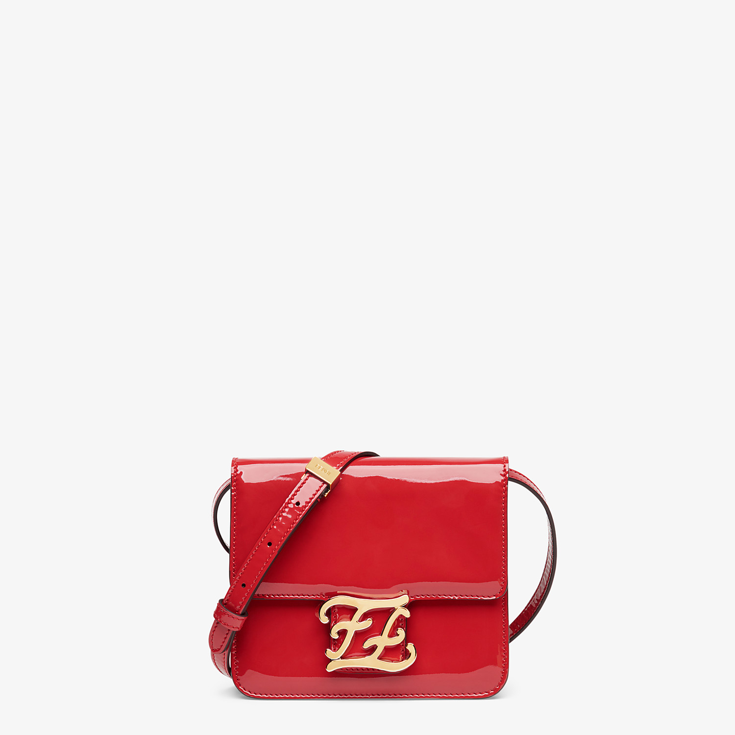 FENDI KARLIGRAPHY - Red patent leather bag - view 1 detail
