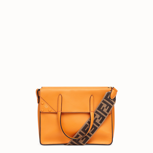 FENDI FENDI FLIP REGULAR - Orange leather bag - view 1 small thumbnail