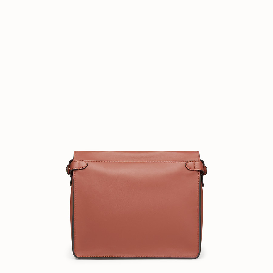 FENDI FENDI FLIP REGULAR - Red leather bag - view 5 detail