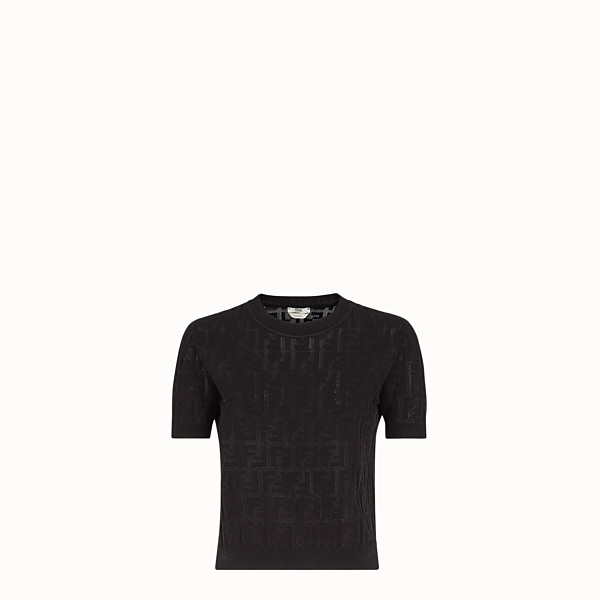 FENDI JUMPER - Black cotton jumper - view 1 small thumbnail