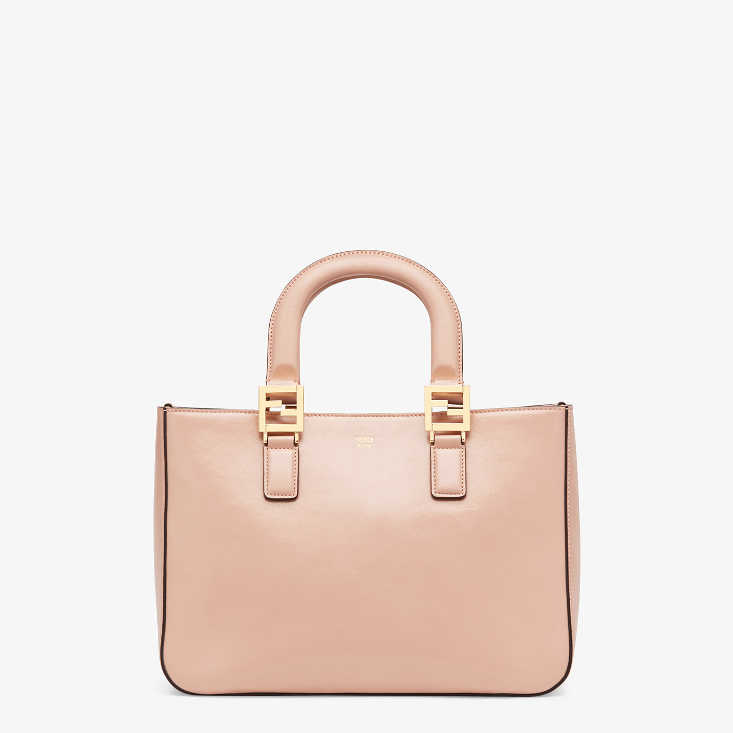 FENDI FF TOTE SMALL - Tasche aus Leder in Rosa - view 1 detail