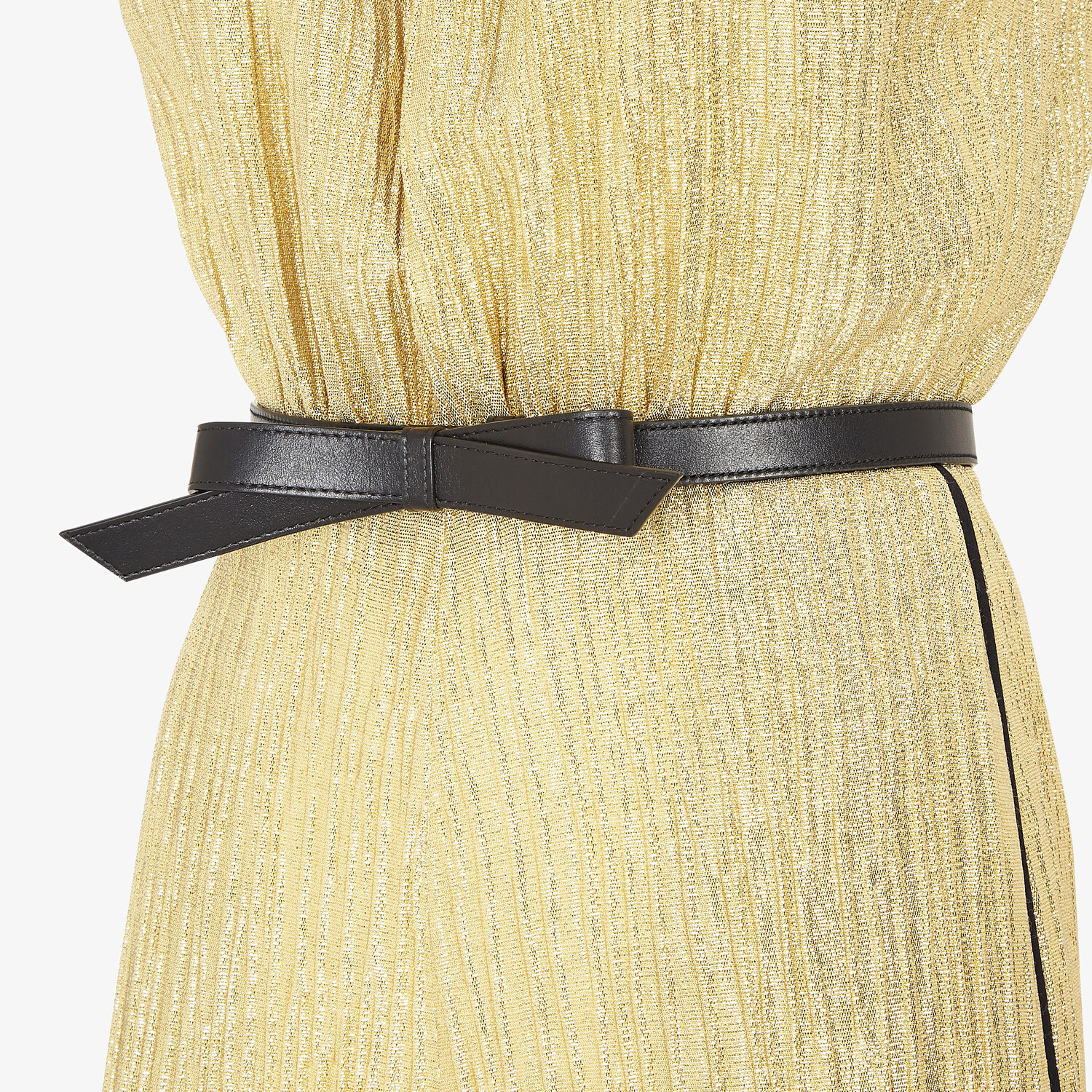 FENDI JUMPSUIT - Gold Lurex jumpsuit - view 3 detail
