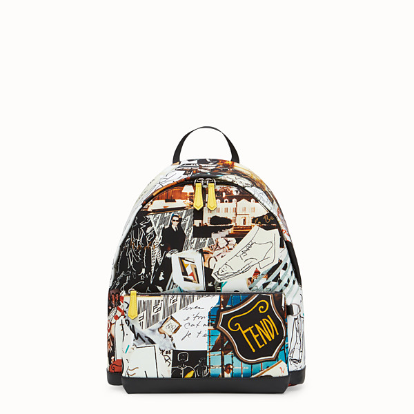 FENDI BACKPACK - Multicolor nylon backpack - view 1 small thumbnail