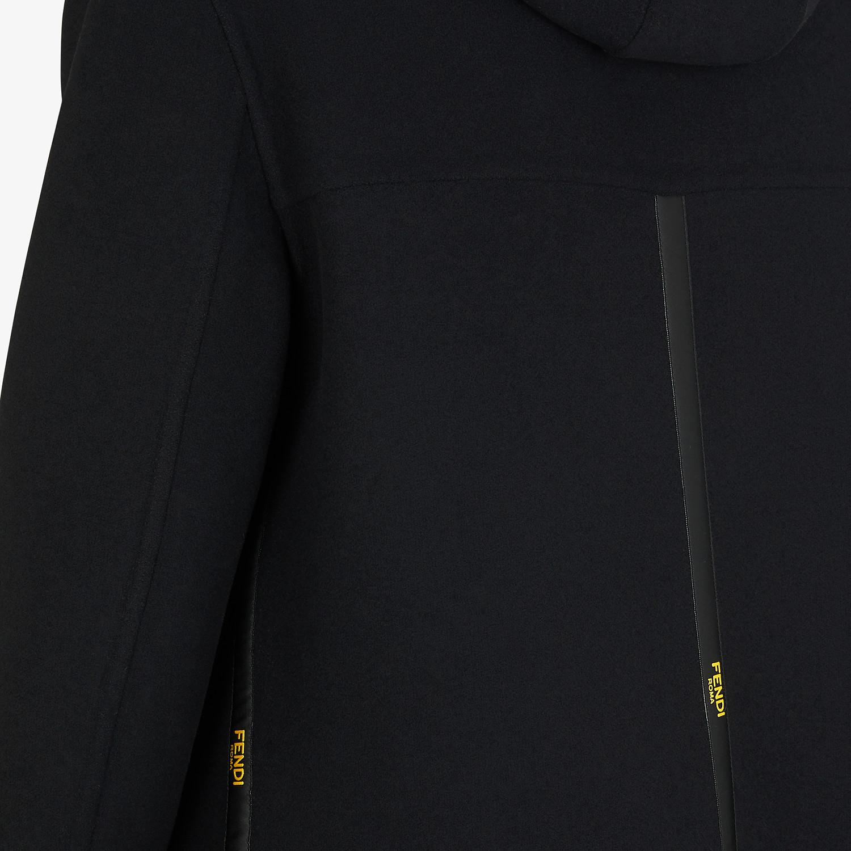 FENDI DUFFEL COAT - Black wool coat - view 3 detail