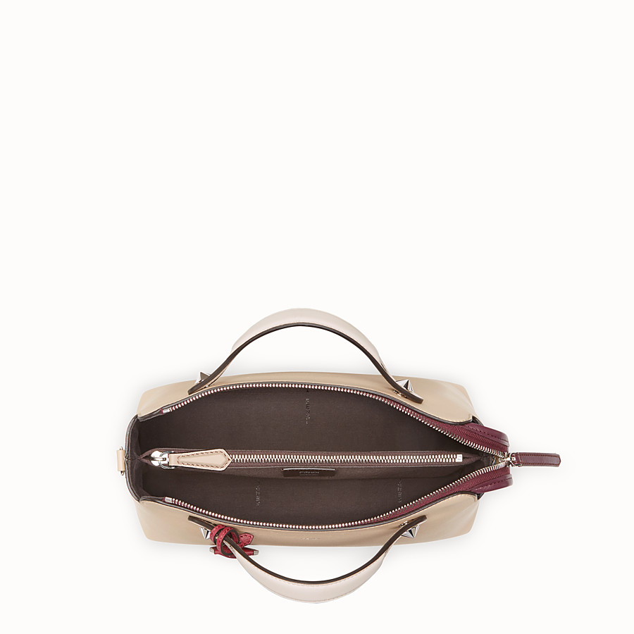 FENDI BY THE WAY REGULAR - Beige leather Boston bag - view 4 detail