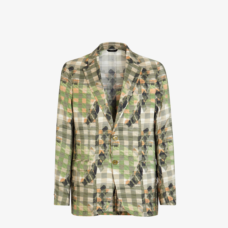 FENDI JACKET - Multicolor silk blazer - view 1 detail
