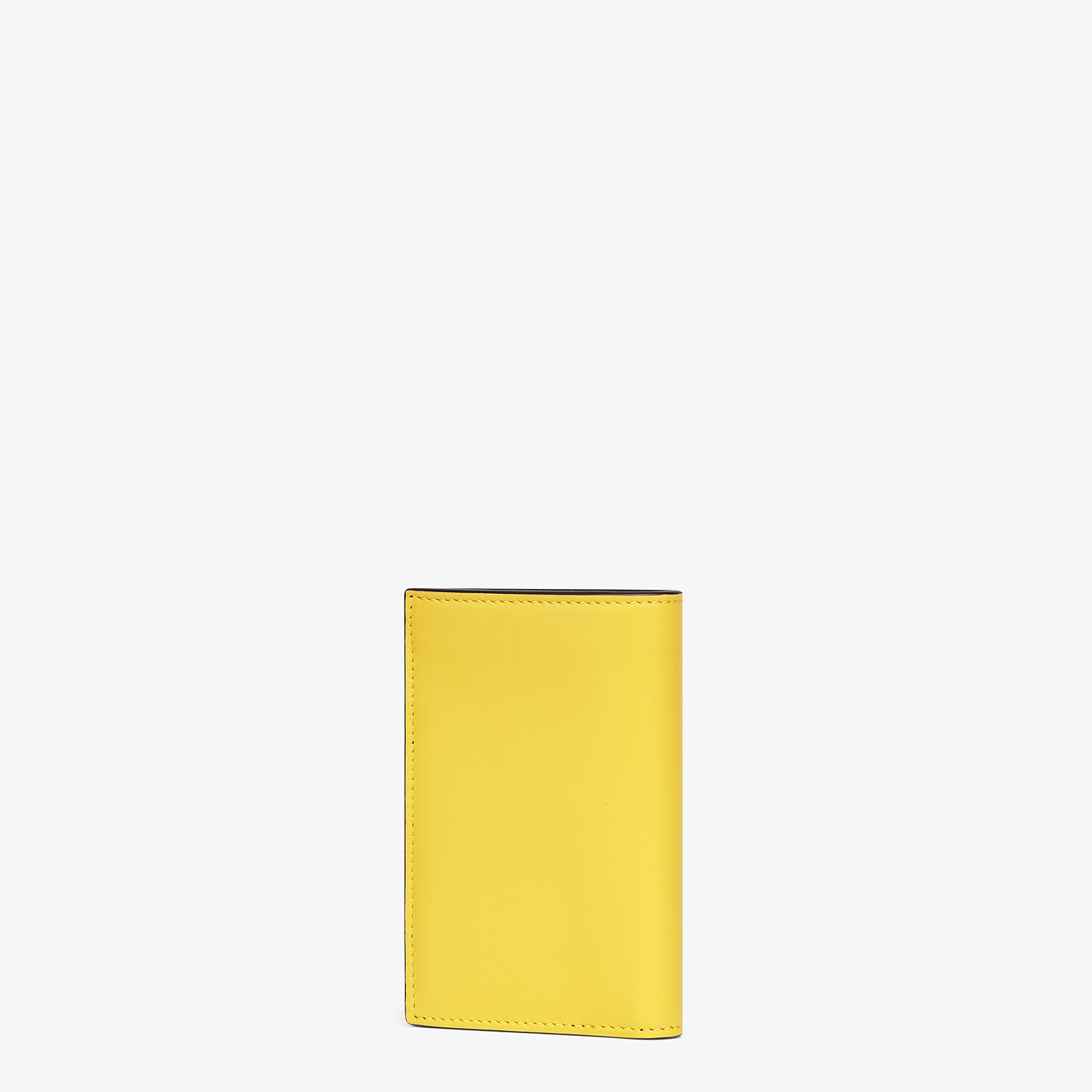 FENDI CARD HOLDER - Yellow leather wallet - view 2 detail