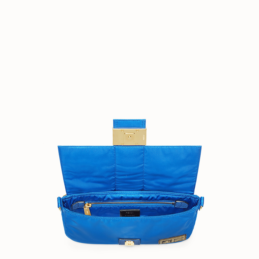 FENDI BAGUETTE FENDI AND PORTER - Blue nylon bag - view 4 detail