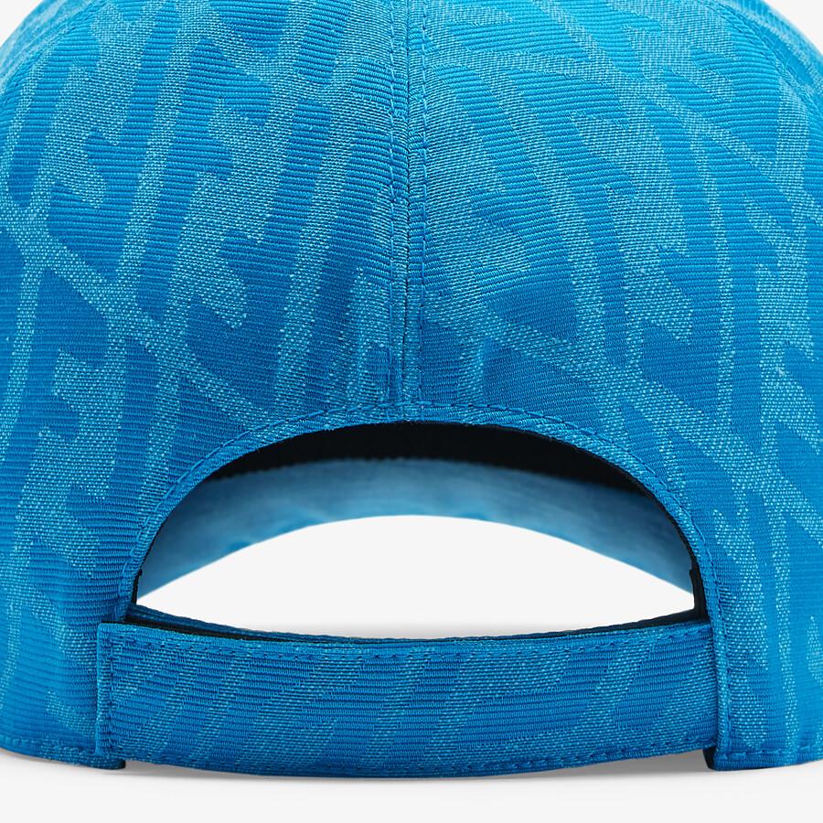 FENDI HAT - Light blue canvas baseball cap - view 2 detail