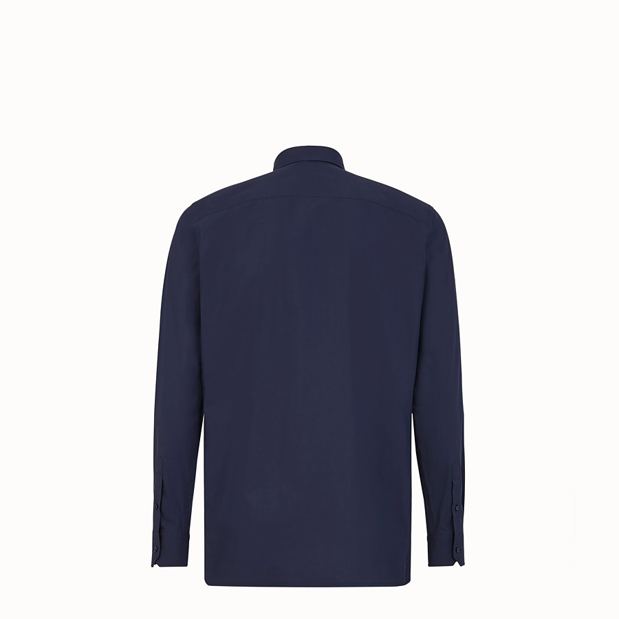 FENDI SHIRT - Blue cotton shirt - view 2 detail