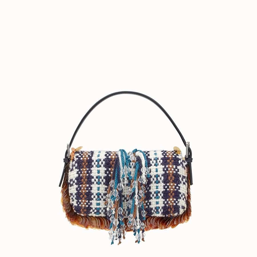 FENDI BAGUETTE - Tartan boiled wool bag - view 3 detail