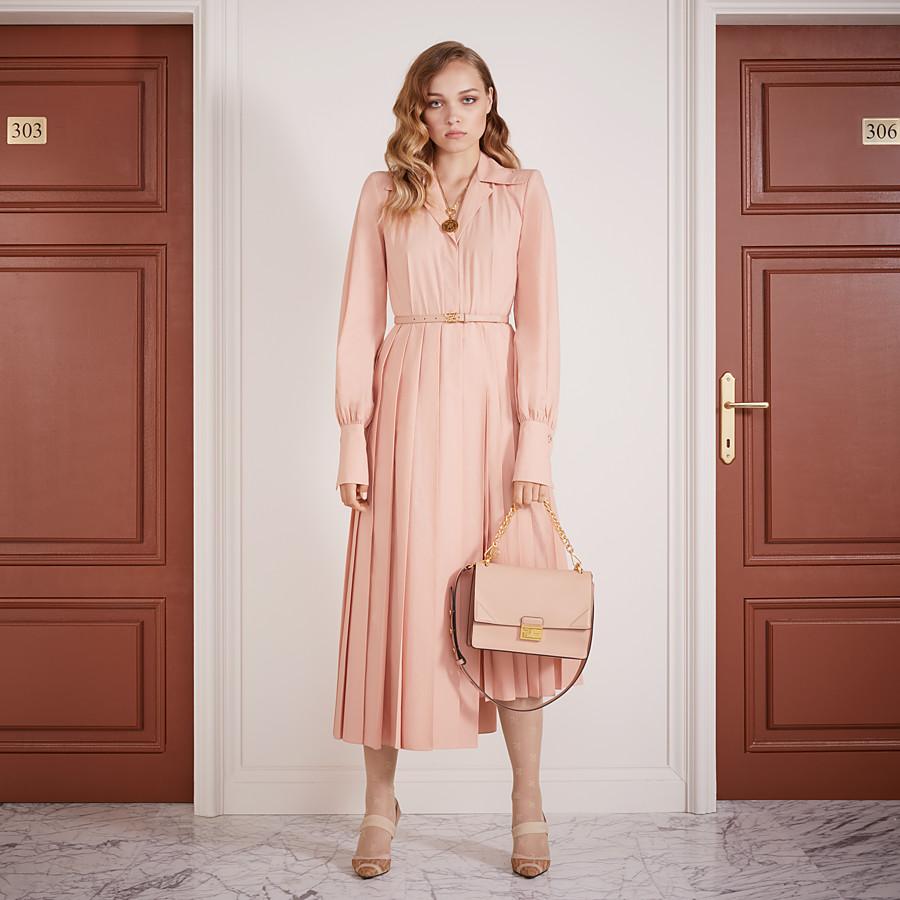 FENDI DRESS - Pink cotton taffeta dress - view 4 detail