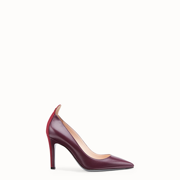 FENDI COURT SHOES - Burgundy leather court shoes - view 1 small thumbnail