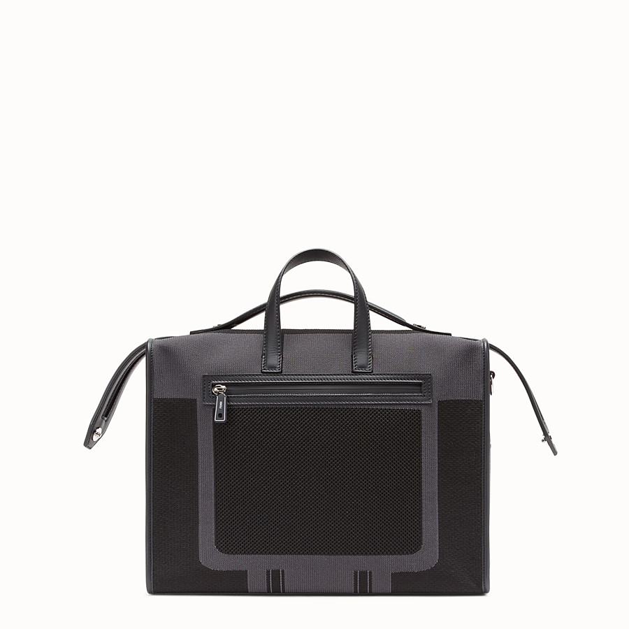FENDI LUI BAG - Black tech knit bag - view 3 detail