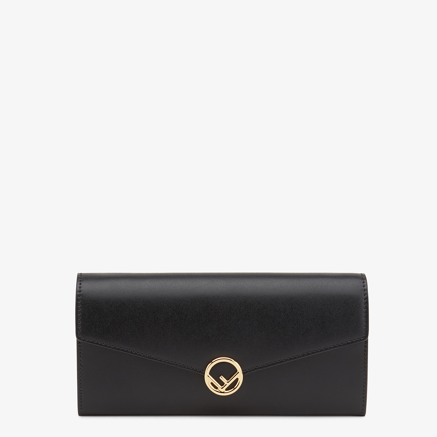 FENDI CONTINENTAL WITH CHAIN - Black leather wallet - view 1 detail