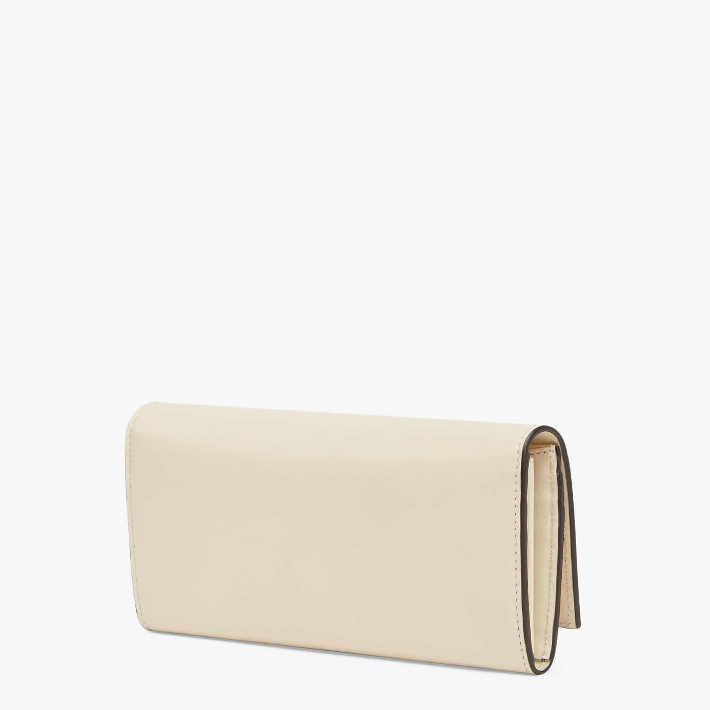 FENDI CONTINENTAL - White leather wallet - view 2 detail