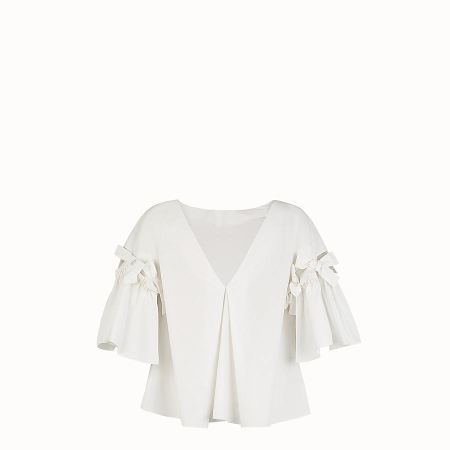 FENDI BLOUSE - White cotton blouse - view 2 detail