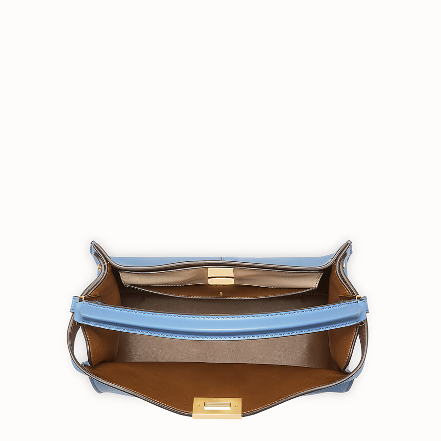 FENDI PEEKABOO X-LITE REGULAR - Pale blue leather bag - view 5 detail