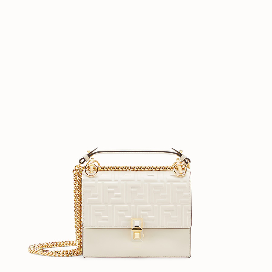 87653dd5 White leather mini-bag - KAN I SMALL | Fendi