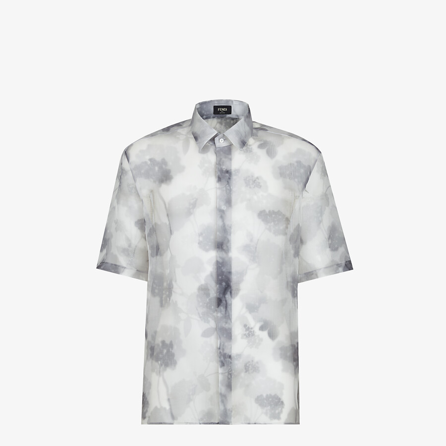 FENDI SHIRT - Natural organza shirt - view 1 detail
