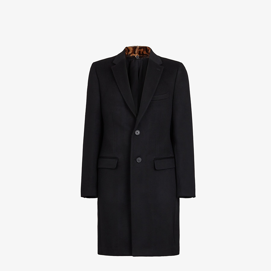 FENDI COAT - Black cashmere coat - view 4 detail