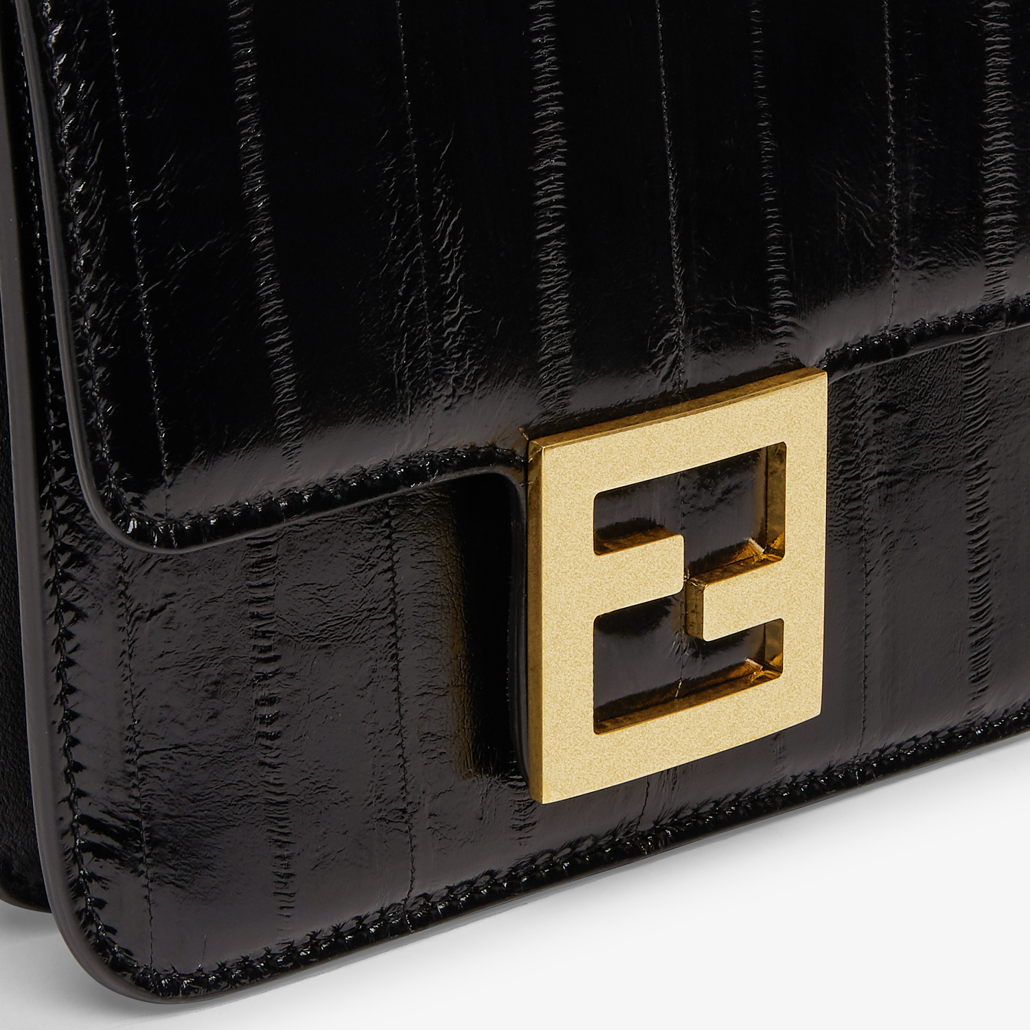 FENDI FENDI FAB - Black eel leather bag - view 5 detail
