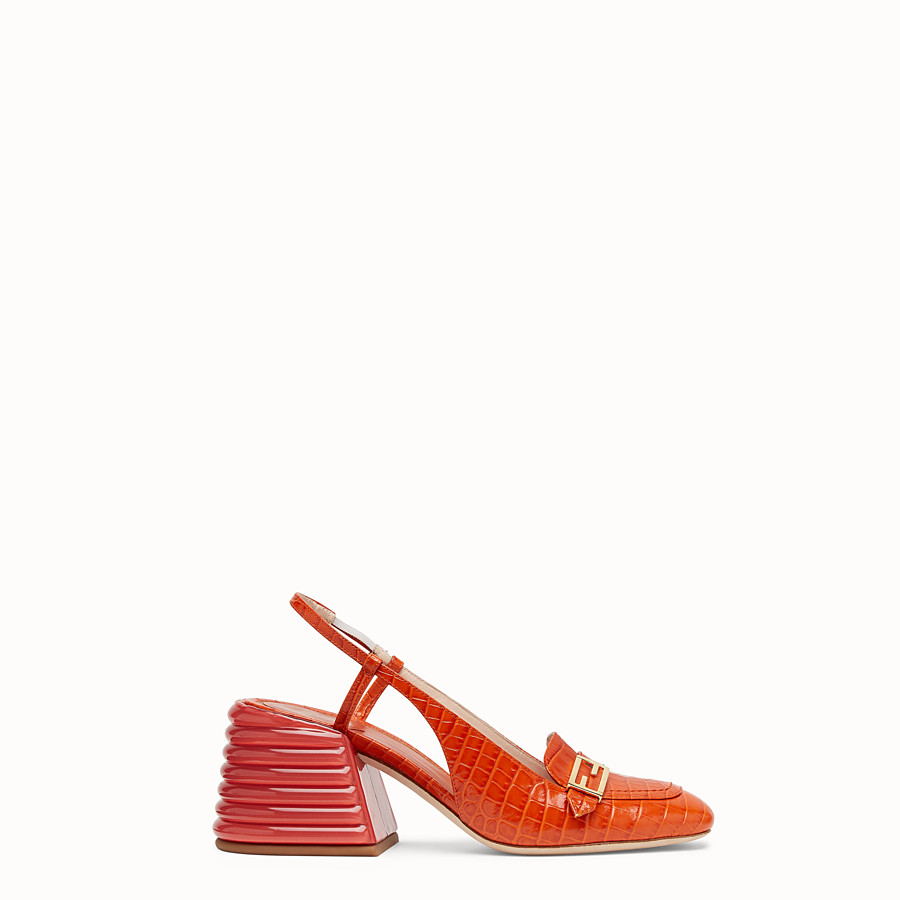 FENDI SLINGBACK - Red leather Promenades - view 1 detail