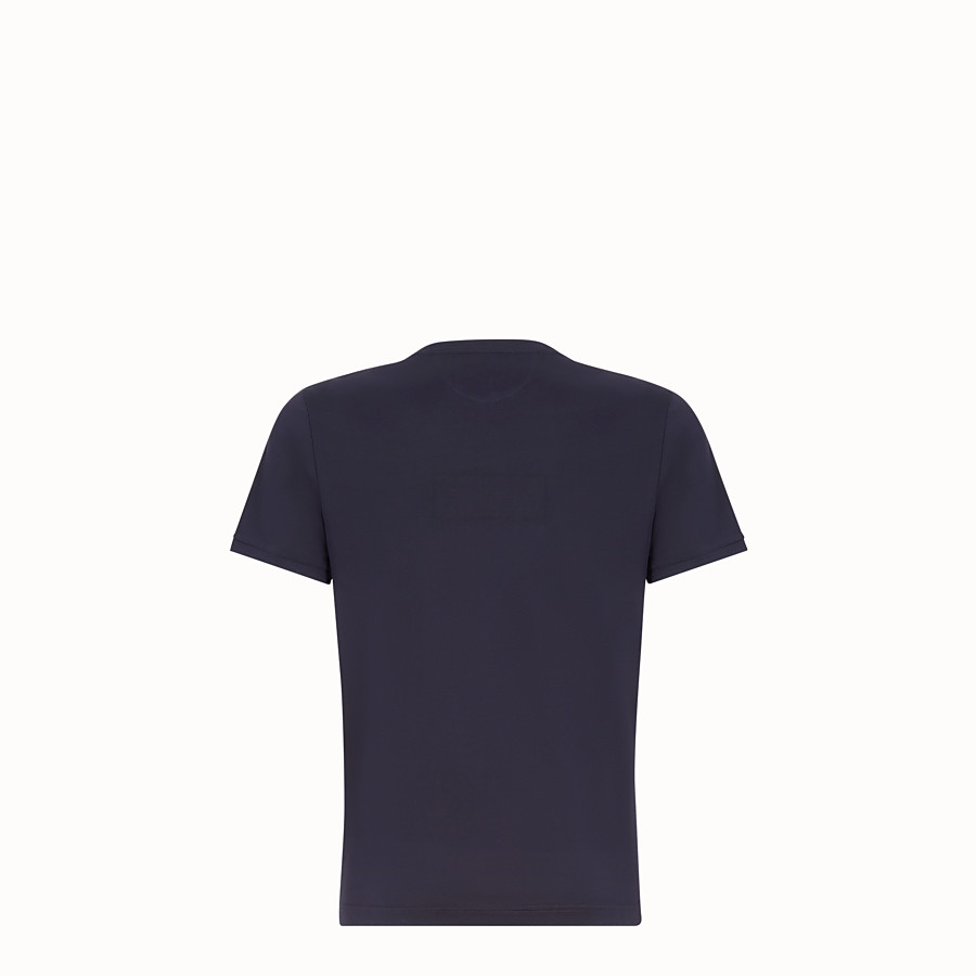 FENDI T-SHIRT - Dark blue cotton T-shirt - view 2 detail