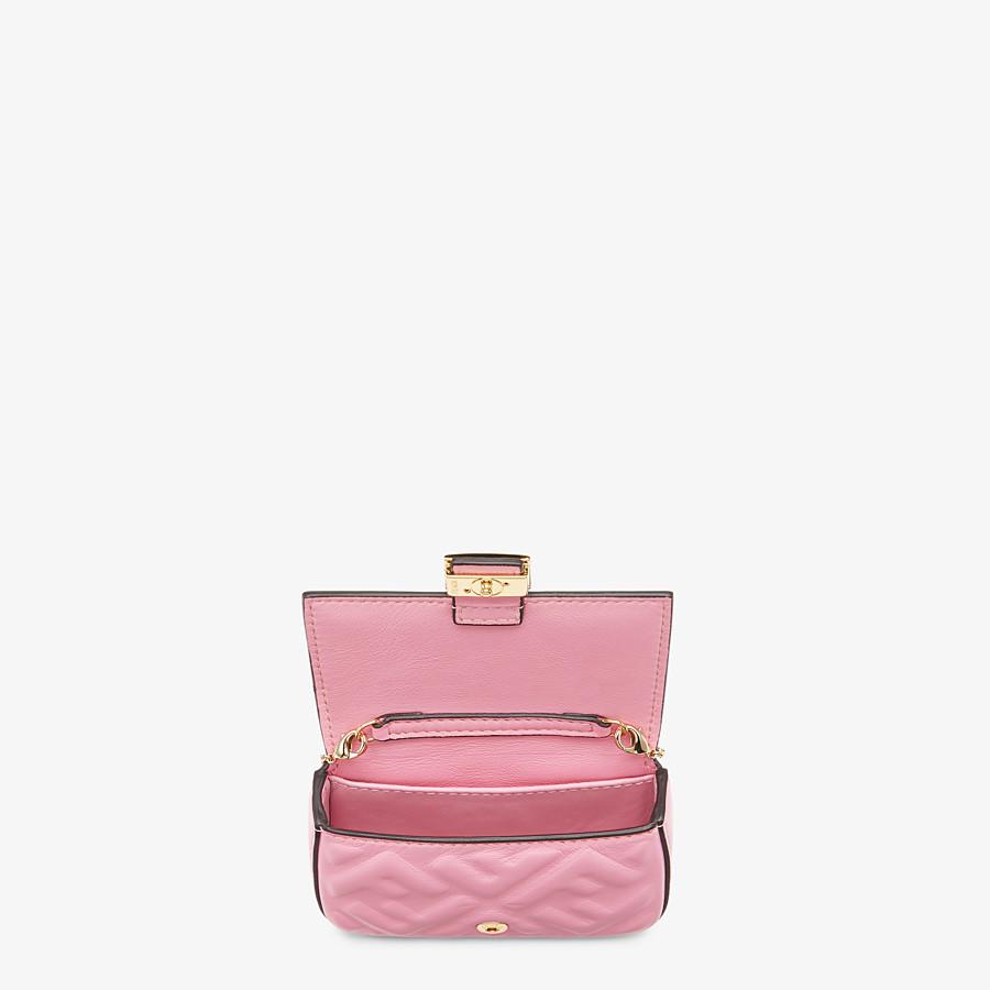 FENDI NANO BAGUETTE CHARM - Charm in pink nappa leather - view 5 detail