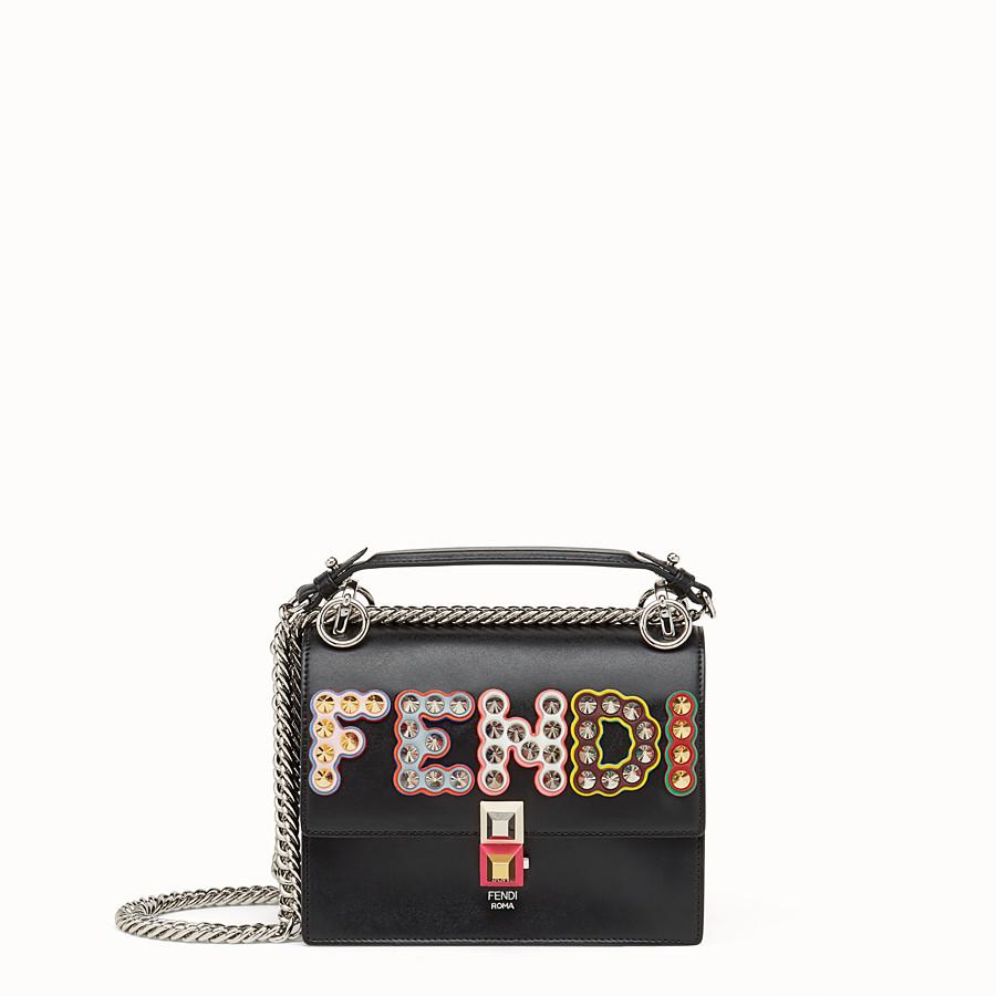 FENDI KAN I SMALL - Black leather mini-bag - view 1 detail