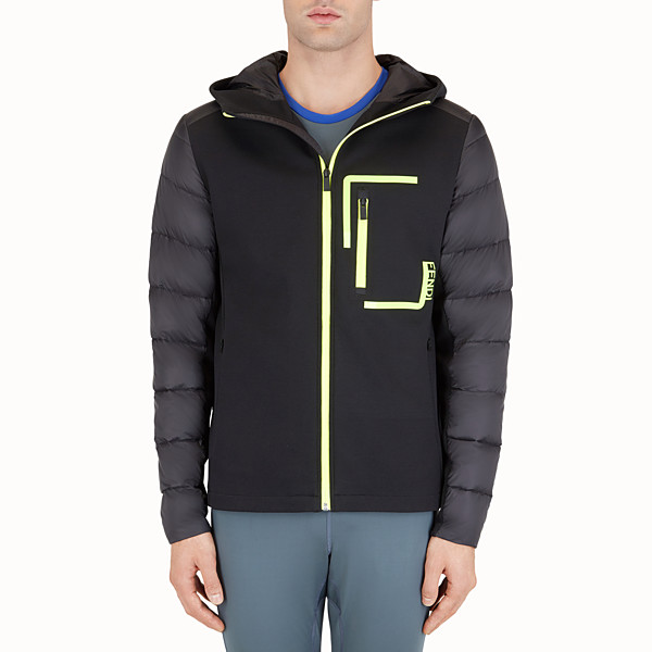 FENDI DOWN JACKET - Jersey and technical down jacket - view 1 small thumbnail