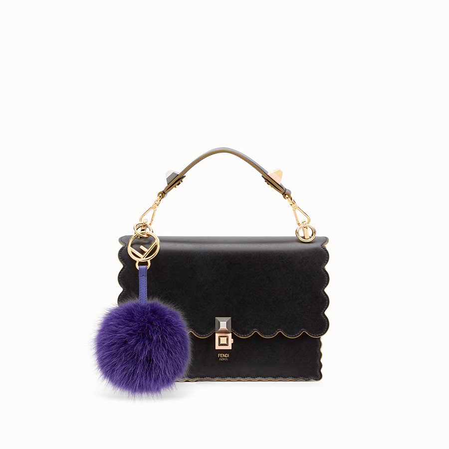FENDI POM-POM CHARM - Purple fox fur charm - view 2 detail