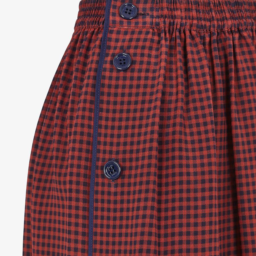 FENDI SKIRT - Check silk skirt - view 3 detail