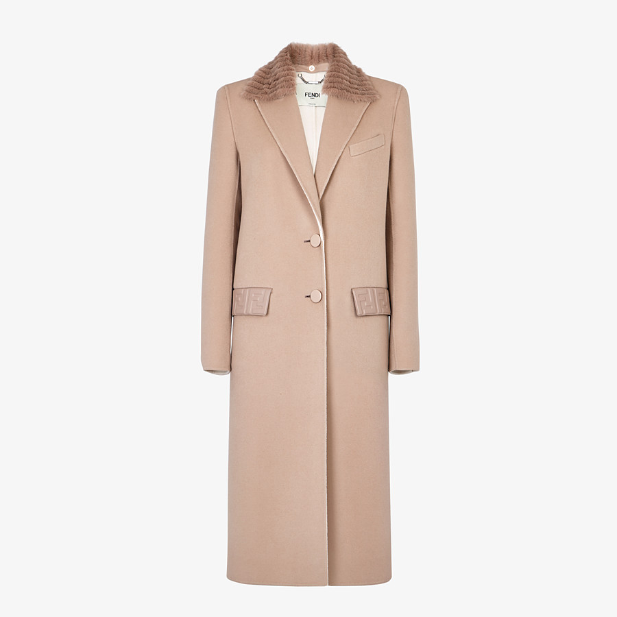 FENDI OVERCOAT - Beige cashmere coat - view 1 detail