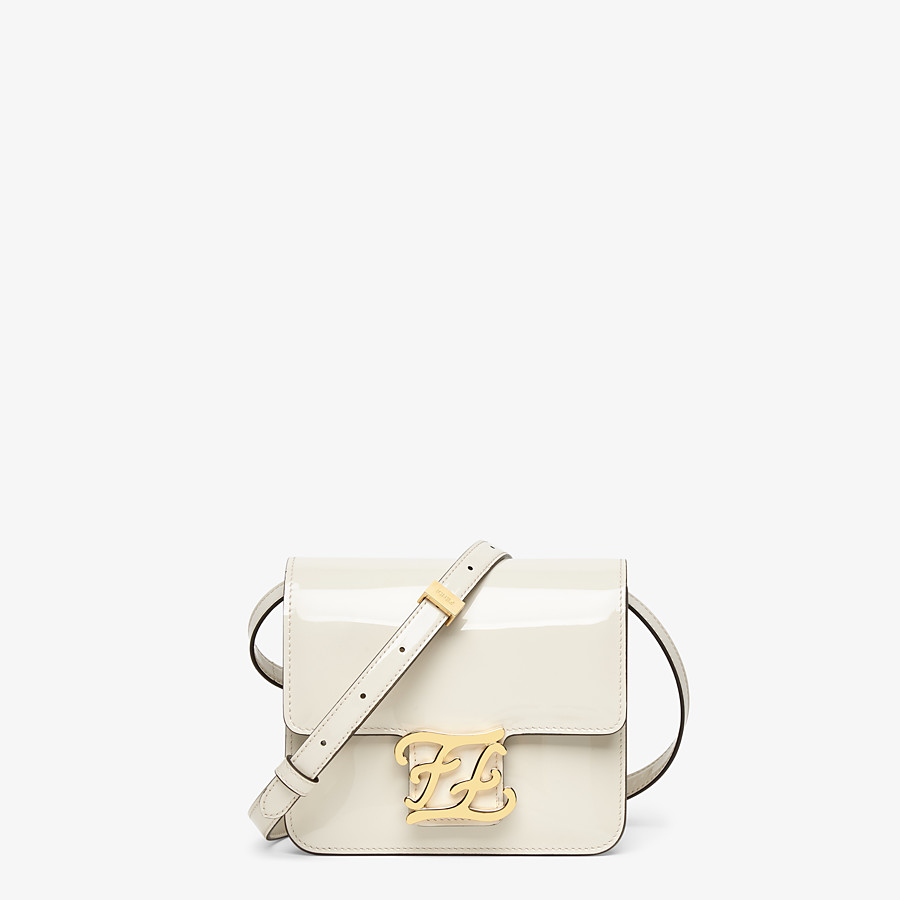 FENDI KARLIGRAPHY - White patent leather bag - view 1 detail