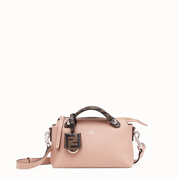 FENDI BY THE WAY MINI - Pink leather small Boston bag - view 1 small thumbnail