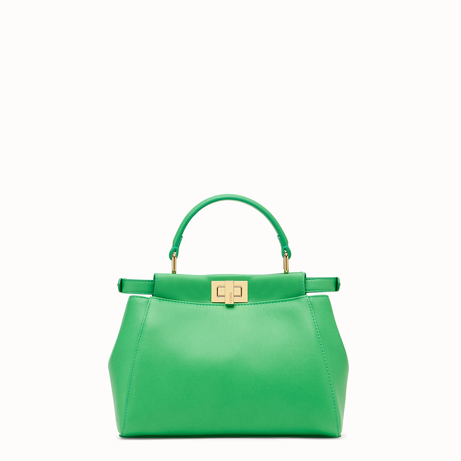 FENDI PEEKABOO ICONIC MINI - Green nappa leather bag - view 3 detail
